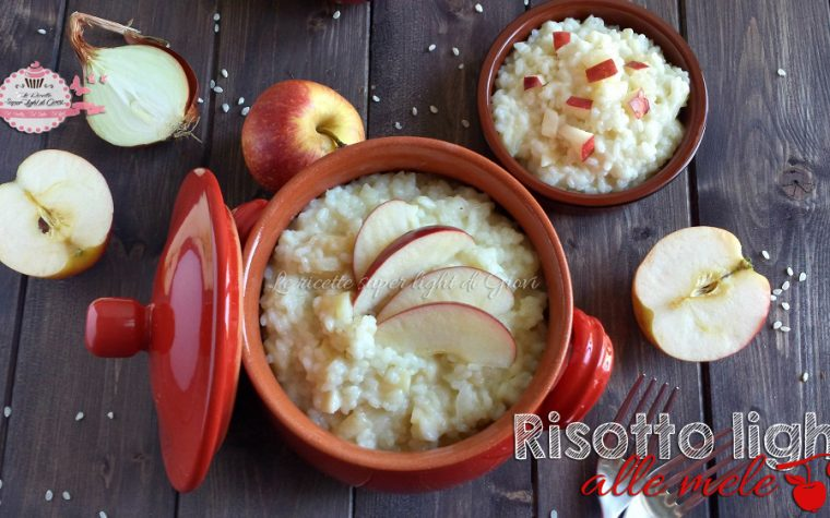 Risotto light alle mele