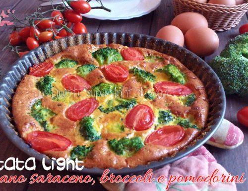 Frittata light di grano saraceno con broccoli e pomodorini
