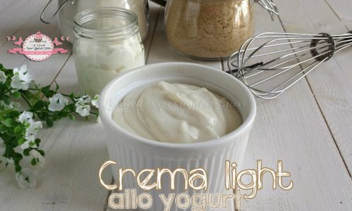 Crema light allo yogurt