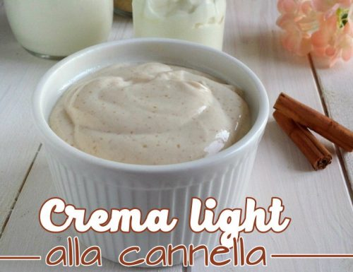 Crema light alla cannella