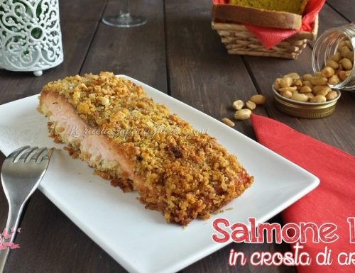 Salmone light in crosta di arachidi