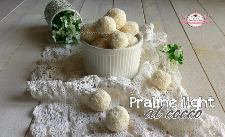 Praline light al cocco (60 calorie l'uno)