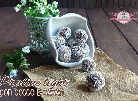 Praline light con cocco e cacao (45 calorie l'una)