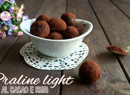 Praline light al cacao e rum