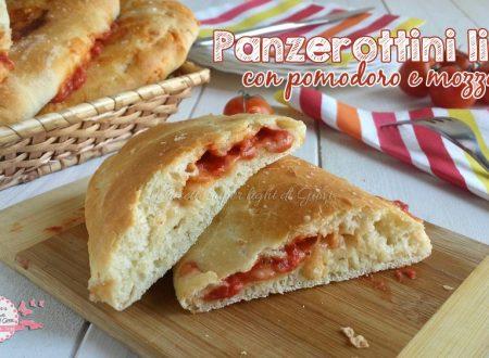 Panzerottini light con pomodoro e mozzarella