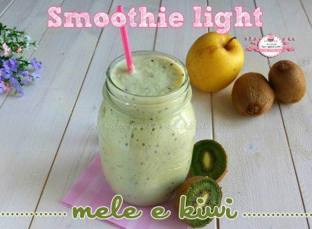 Smoothie light mele e kiwi (105 calorie a porzione)