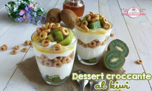 Dessert croccante al kiwi