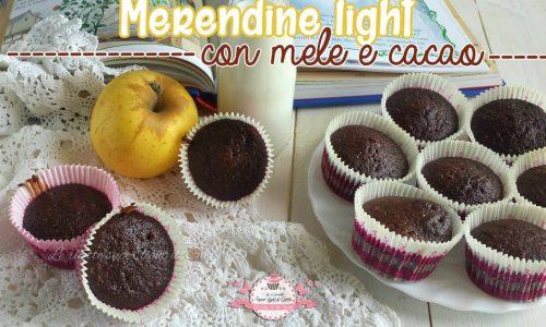 Merendine light alle mele e cacao