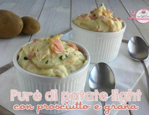 Purè light di patate con prosciutto e grana (280 calorie)