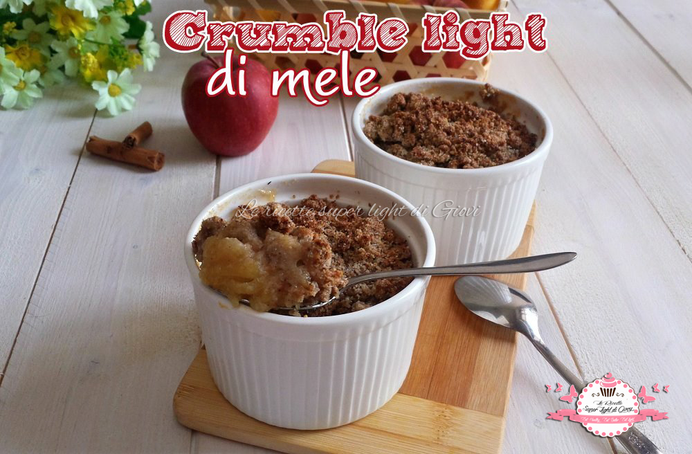 Crumble light di mele (300 calorie l'uno)