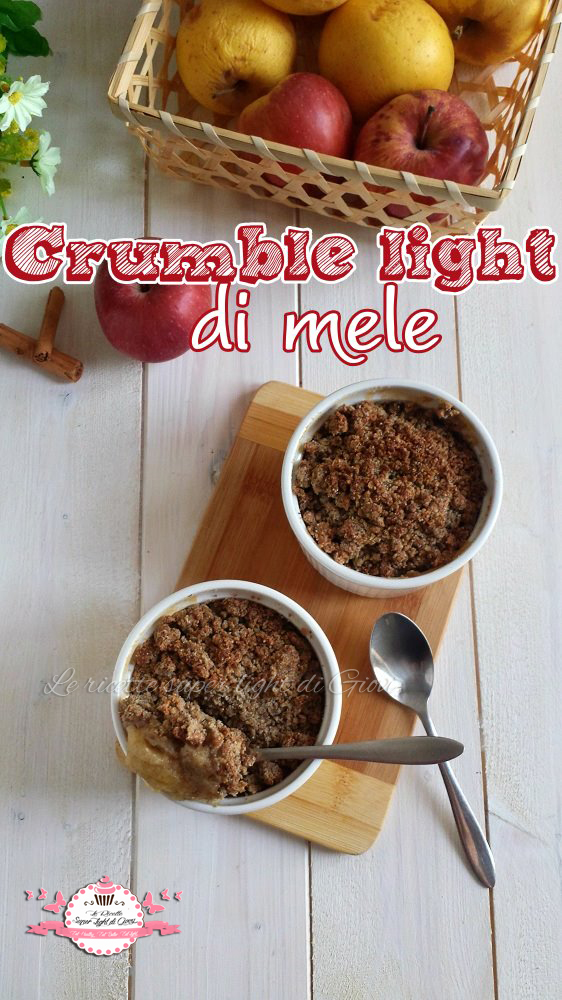 Crumble light di mele