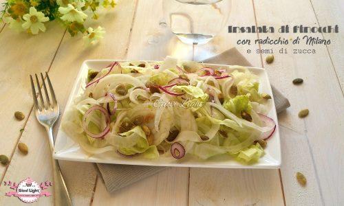 Insalata di finocchi con radicchio e semi di zucca