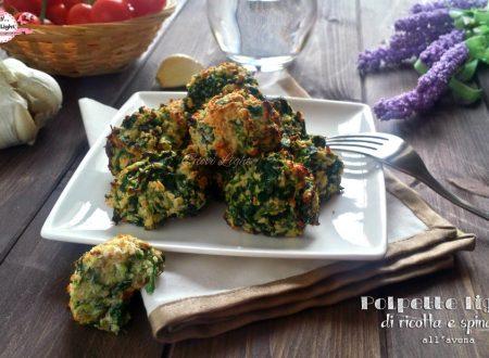 Polpette light di ricotta e spinaci all'avena (33 calorie l'una)