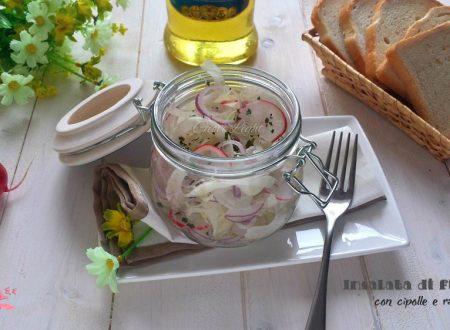 Insalata di finocchi con cipolle e ravanelli