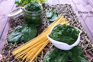 Pesto light di spinaci (133 cal/100gr)