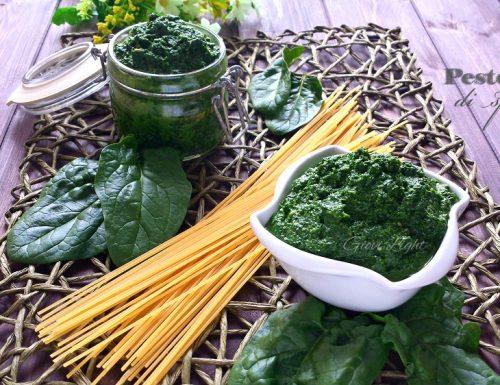 Pesto light di spinaci (133 cal/100gr)
