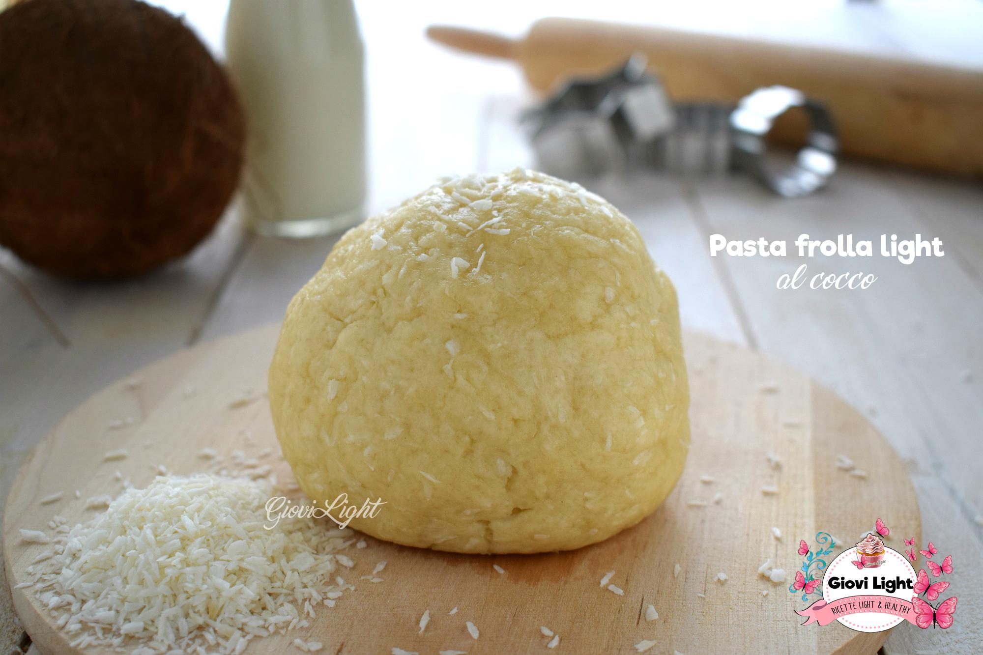 Pasta frolla light al cocco