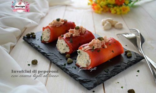 Involtini di peperoni con crema light al tonno