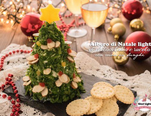 Albero di Natale light di philadelphia e rucola con cuore ai funghi