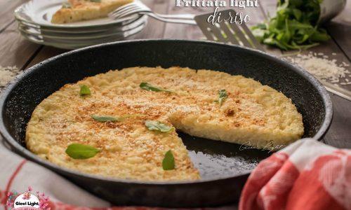 Frittata light di riso, facile e veloce