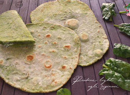 Piadine light di avena agli spinaci