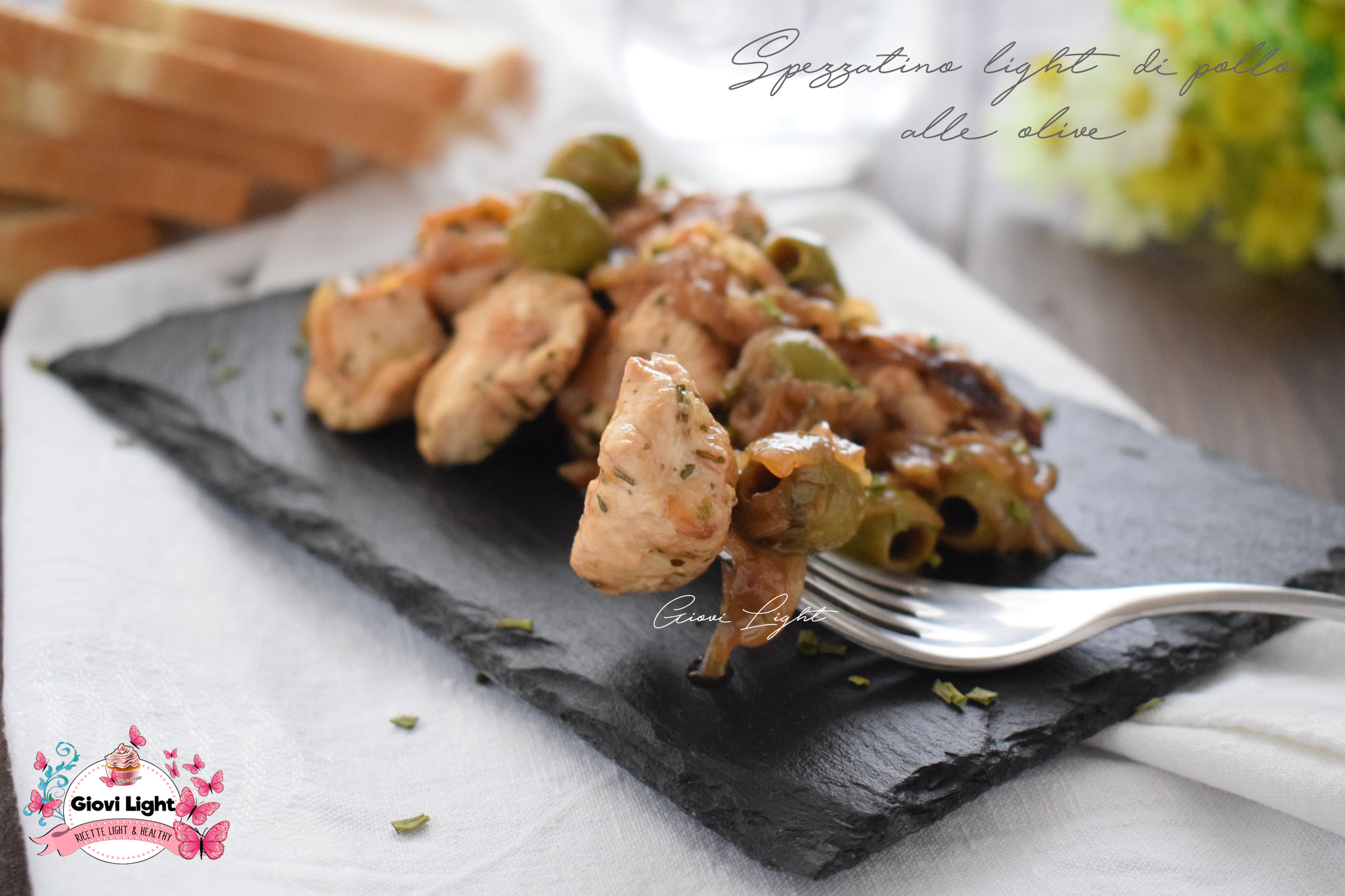 Spezzatino light di pollo alle olive