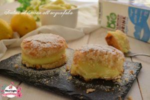 Tortini al limone all'aquafaba (albumi vegan) e crema al limone