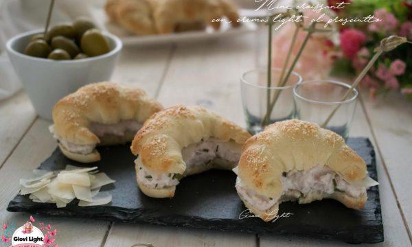 Mini croissant con crema light al prosciutto NELLA FRIGGITRICE AD ARIA