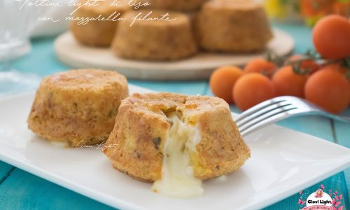 Tortini light di riso con mozzarella filante