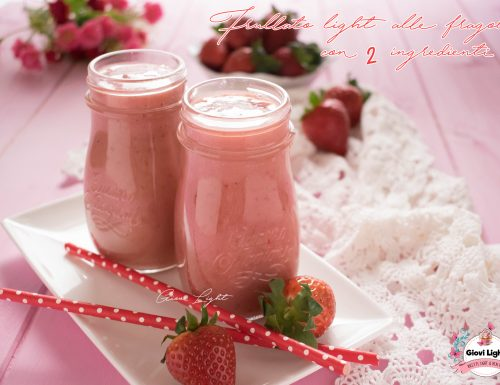Frullato light alle fragole 2 ingredienti CON IL BIMBY e senza