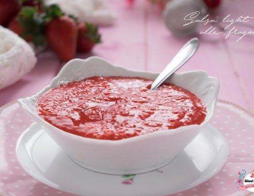 Salsa light alle fragole con 3 ingredienti