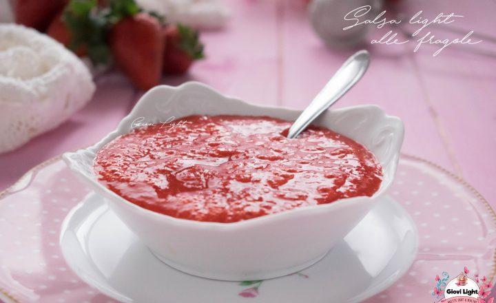 Salsa light alle fragole con 3 ingredienti