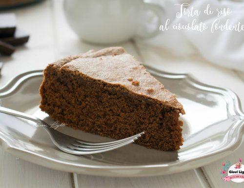 Torta di riso al cioccolato fondente – senza glutine e caseina