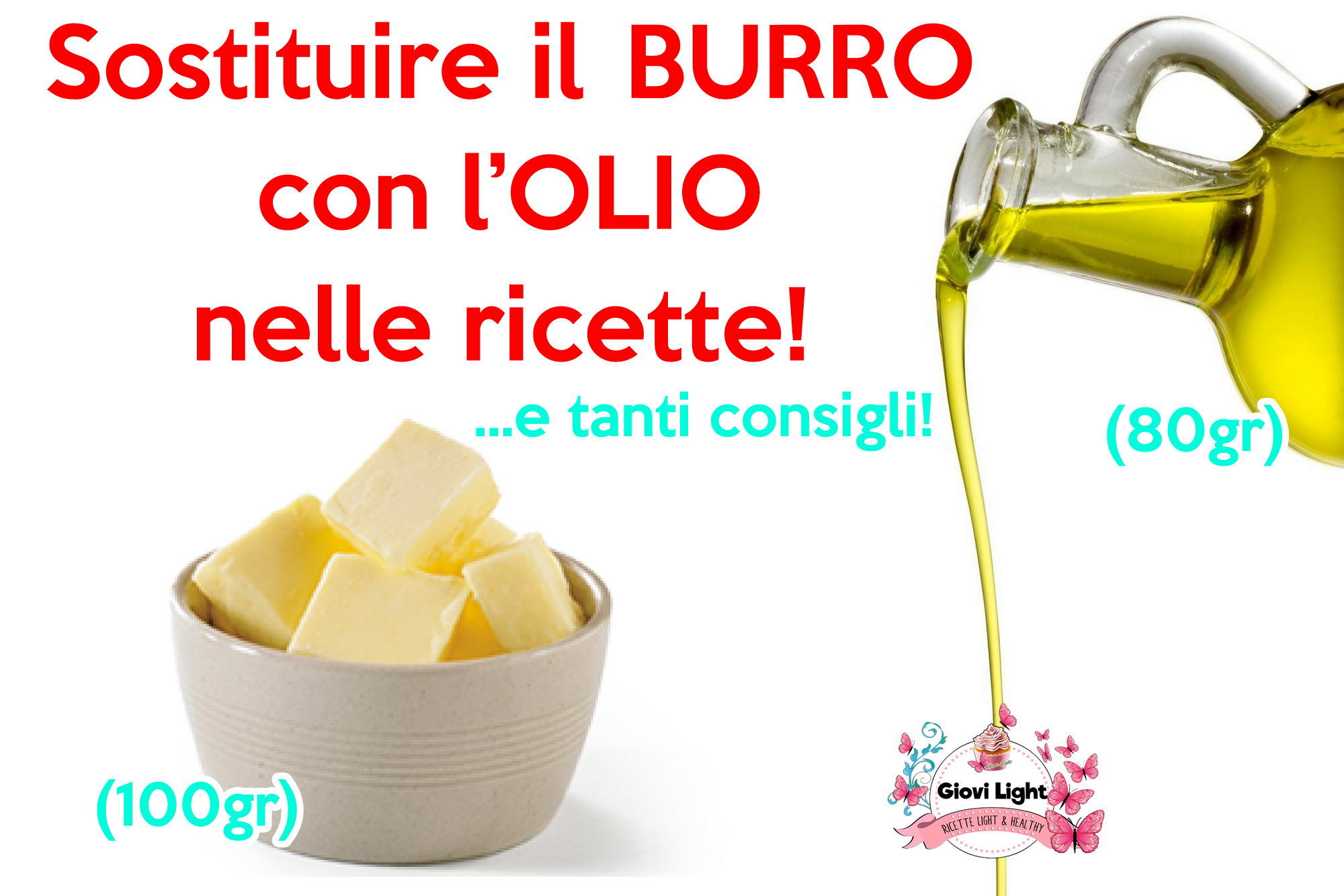 Sostituire il burro con l'olio nelle ricette