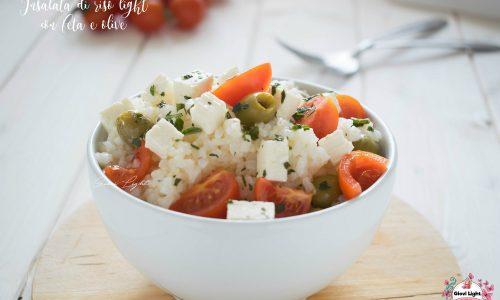 Insalata di riso light con feta e olive