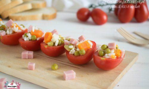 Pomodorini piccadilly light ripieni di riso e verdure – ricetta finger food