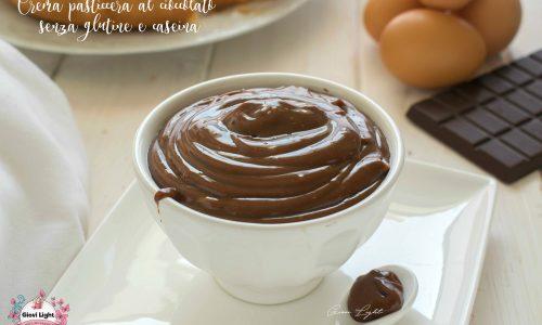 Crema pasticcera al cioccolato senza glutine e caseina