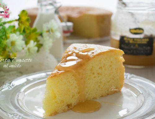 Torta 7 vasetti al miele con il bimby e senza