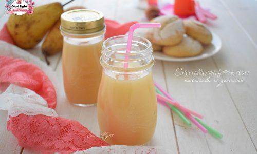 Succo alla pera fatto in casa, naturale e genuino
