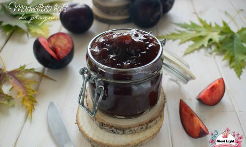 Marmellata light di prugne