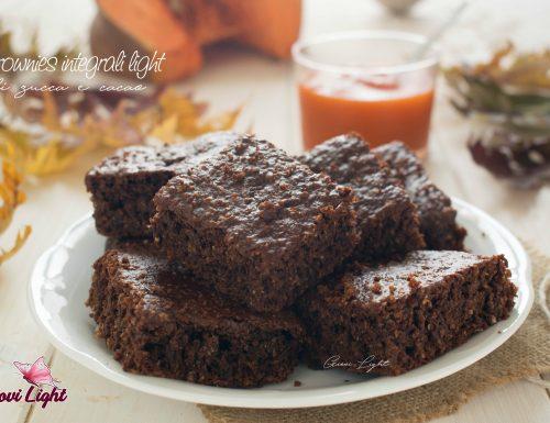 Brownies integrali light di zucca e cacao