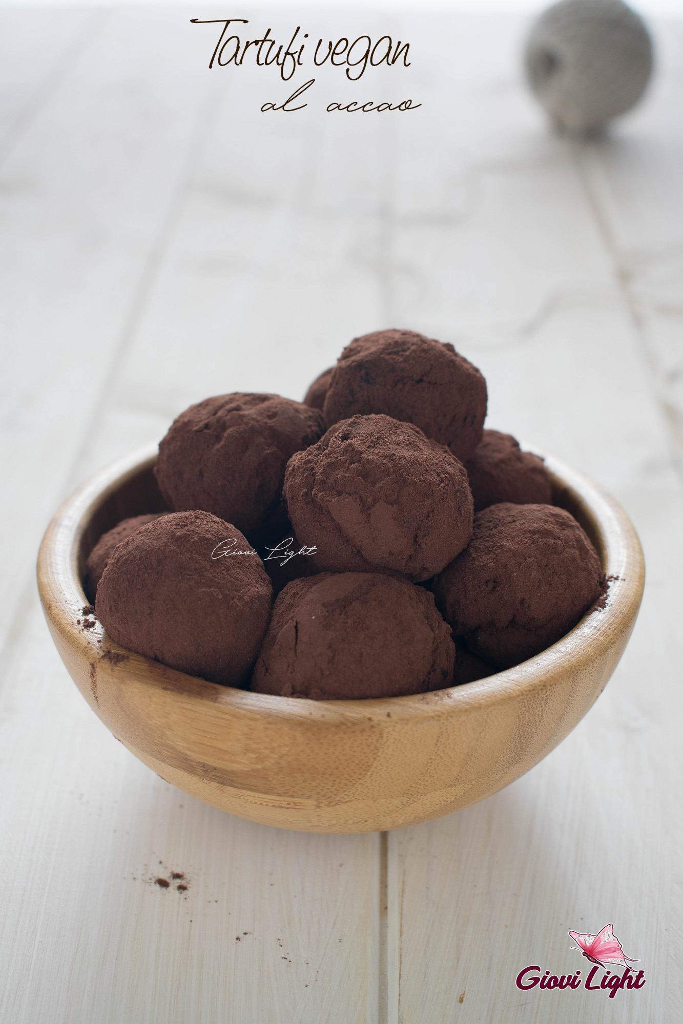 Tartufi vegan al cacao