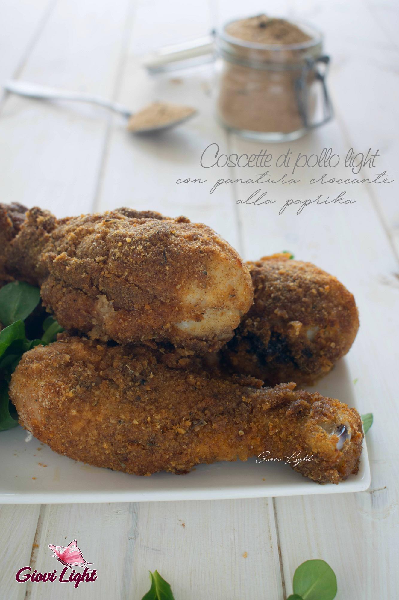 Coscette di pollo light con panatura croccante alla paprika