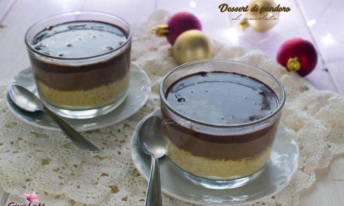 Dessert di pandoro al cioccolato