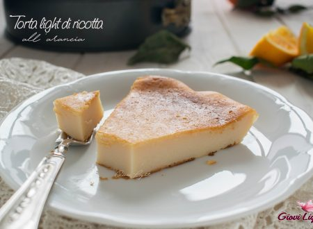 Torta light di ricotta all'arancia