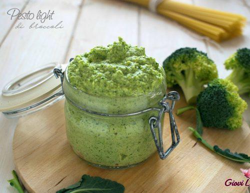 Pesto light di broccoli crudi