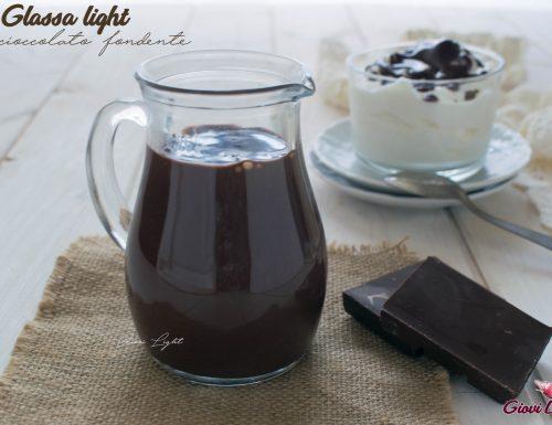 Glassa light al cioccolato fondente