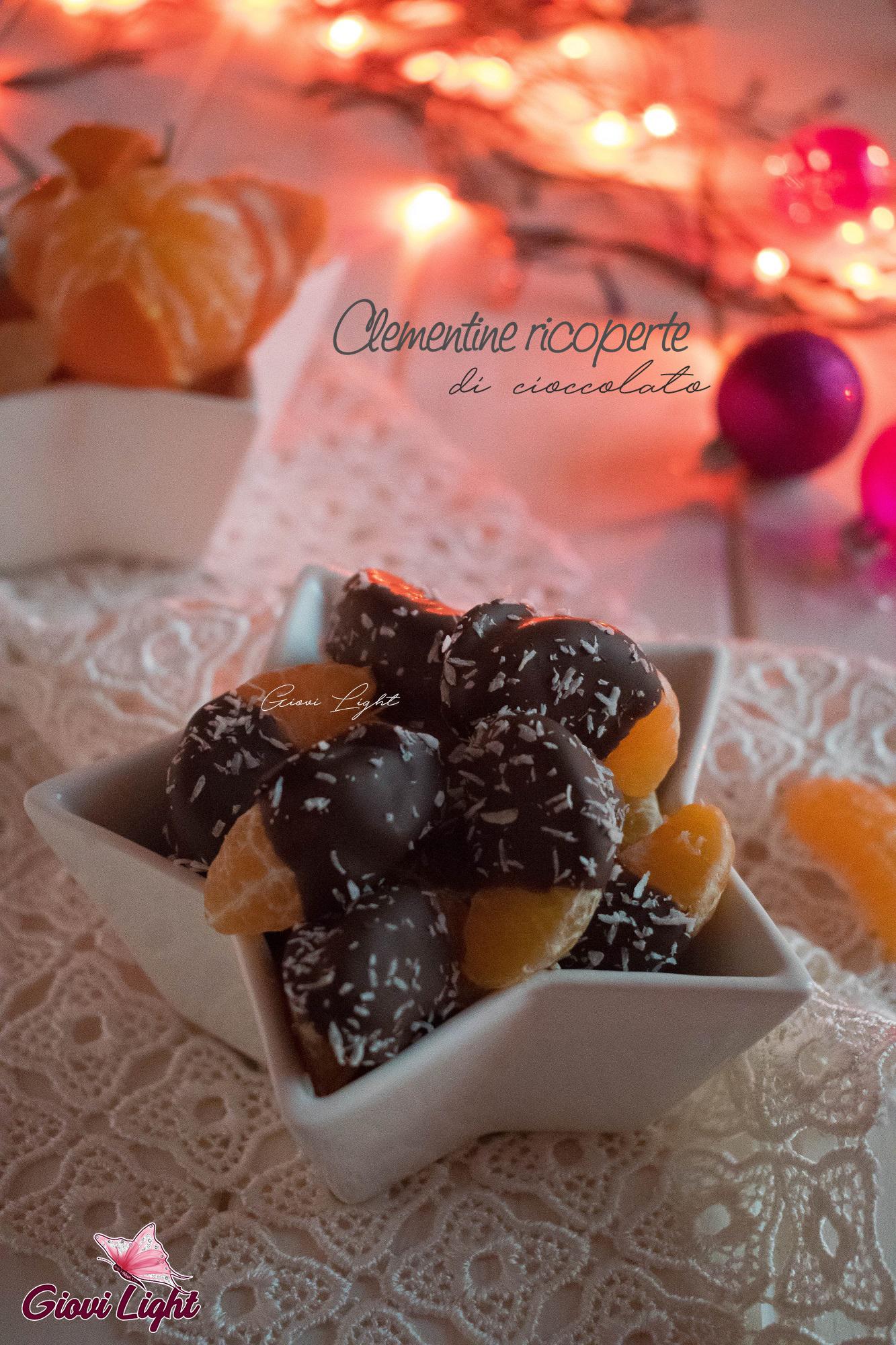 Clementine ricoperte di cioccolato