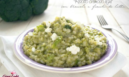 Risotto cremoso light con broccoli e fiocchi di latte