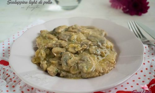 Scaloppine light di pollo ai funghi